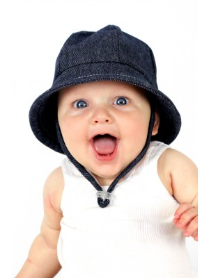 Bedhead Baby Bucket Hat - Denim Baby