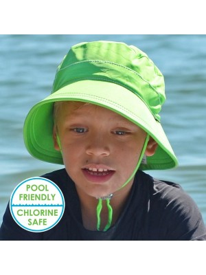Bedhead Bucket Swim Hat - Lime Boy