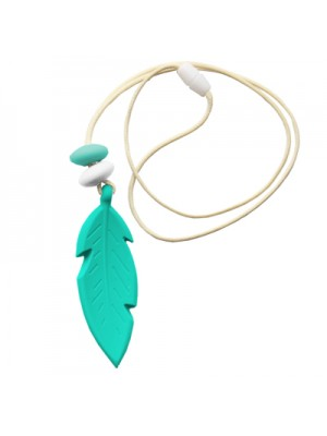 Nibbly Bits Feather Silicon Pendant - Sparkling