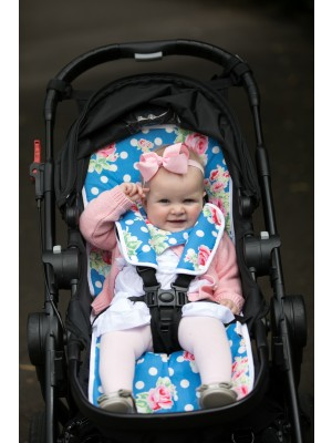 Harry High Pants Pram Liner & Strap Covers - Floral Polka