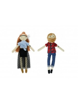 Heidi the Wanderer and Jarrad the Hipster doll