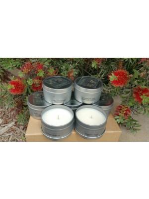 Kakadu Tiny Tots Tin Natural Soy Candles display