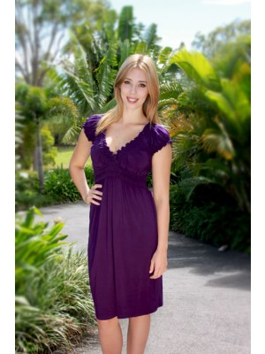 Goosebumps Clothing Rose Dress - Purple Full
