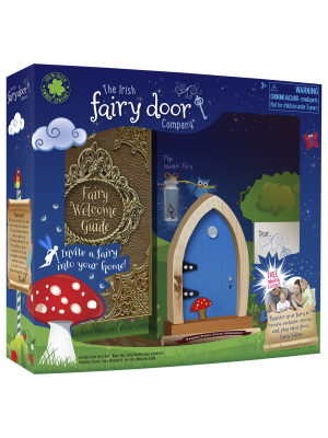 the Irish Fairy Door Company - Blue Arch Fairy Door Box