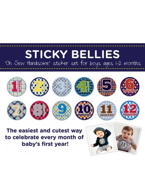 Sticky Bellies Oh Sew Handsome 1-12 months boys designs