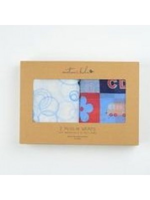 2 x Muslin Wraps Emotion & Kids (Various Designs)