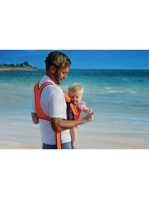 The Frog Orange Water Baby Carrier - man baby orange