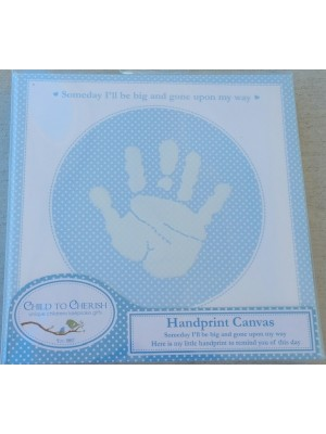 Child to Cherish - Handprint Canvas Blue