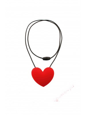 Heart Pendant Classic - Hot Lips Red - Nibbly Bits