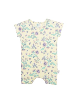 Moon Jelly Short Romper - Floral Bee