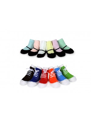 Tippy Toes Baby Socks x 6 Pairs  - Annabel Trends (Various Designs)
