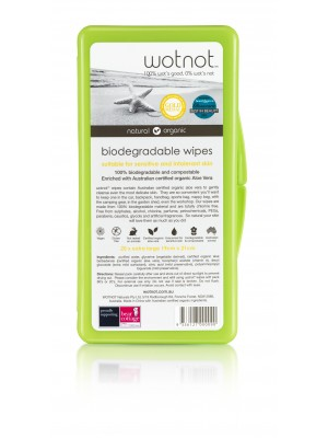 Wotnot Bio Wipes - Travel Case 20PK