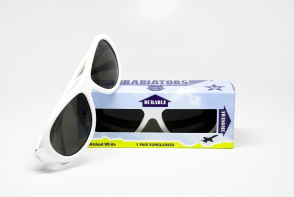 Wicked White original Babiators kids sunglasses