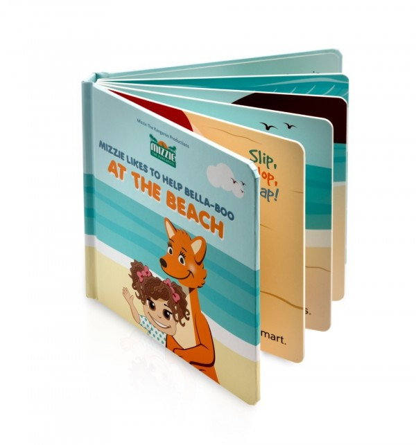 Australian Mizzie the Kangaroo Kids Books At the Beach