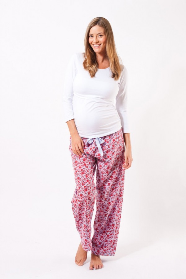 Villefranche Maternity and Hospital Pyjama Pant - Red Blue