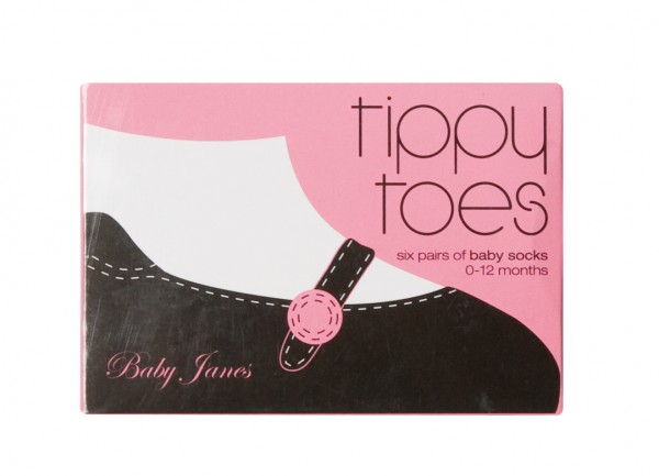 Tippy Toes Socks Baby Jane box
