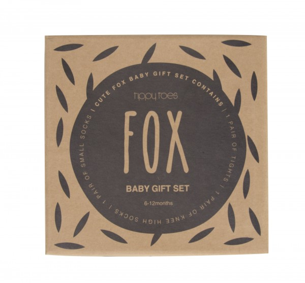 Boxed Baby Tights & Socks boxed gift set Fox