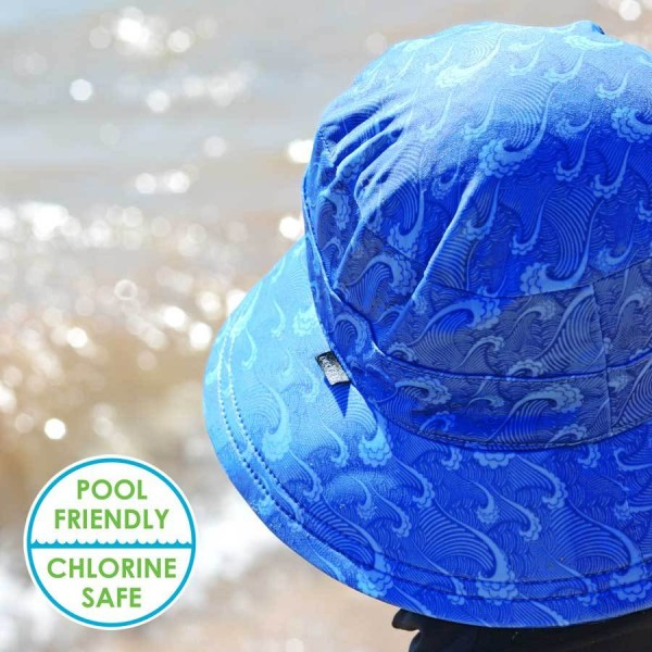 Bedhead Bucket Swim Hat - Waves Boy