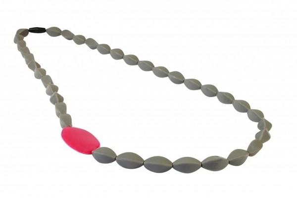 MummaBubba Boston Beads - Gray Magenta