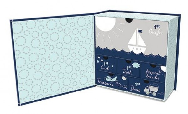 Lady Jayne Baby's Fist keepsake Box - Blue
