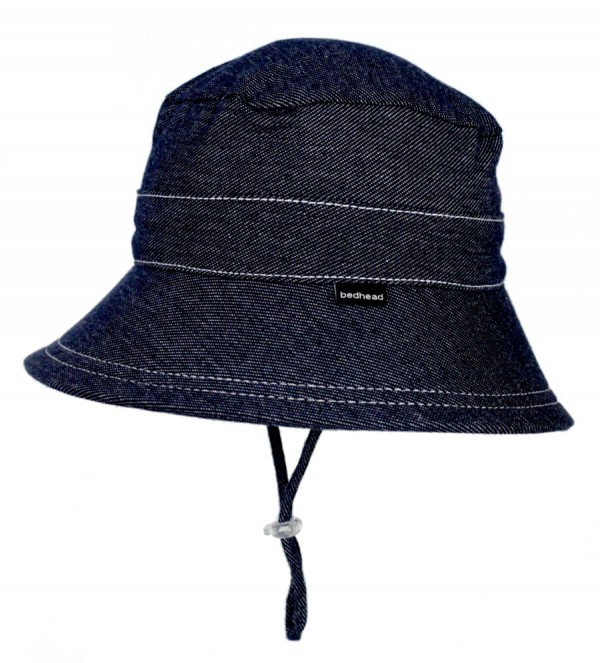 Beadhead Bucket Hat - Denim flat lay