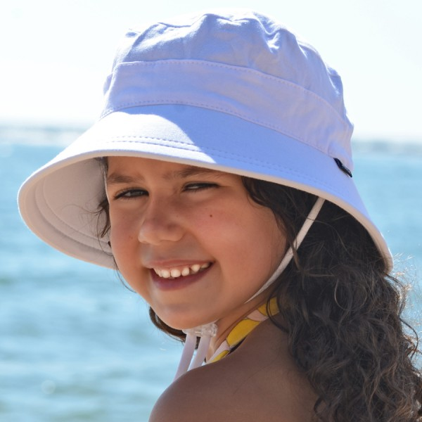 Beadhead Bucket Hat - Girl White