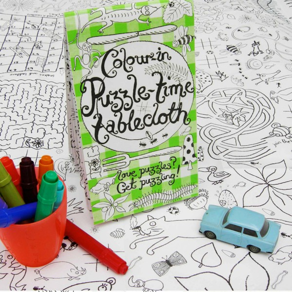 Colour-in tablecloth - Puzzel-time