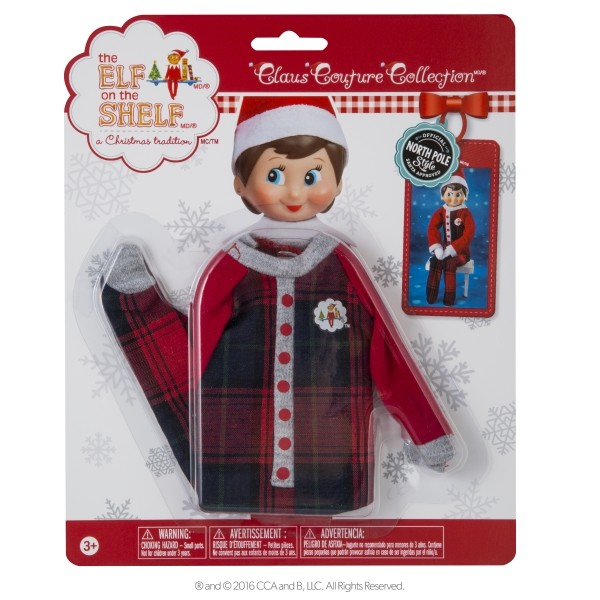 The Elf on the Shelf - Couture pajamas packaged