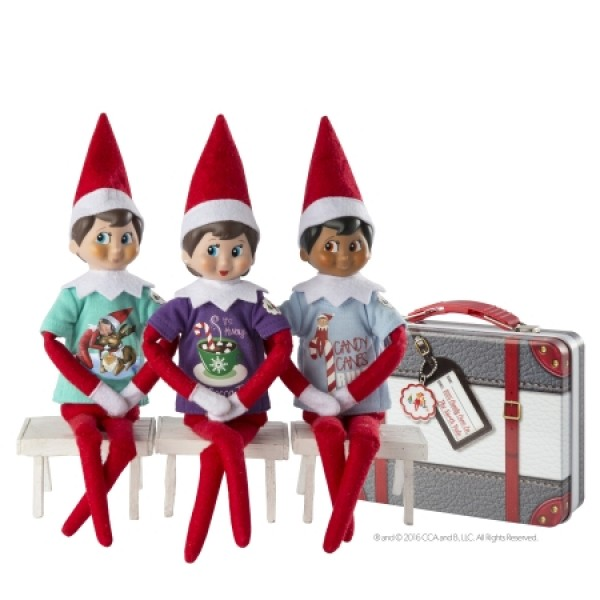 The Elf on the Shelf - Couture Tees on a bench seat