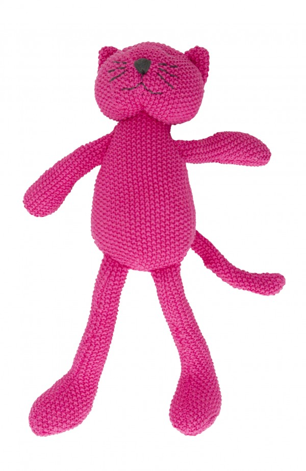 Crochet Animal pink Cat Standing
