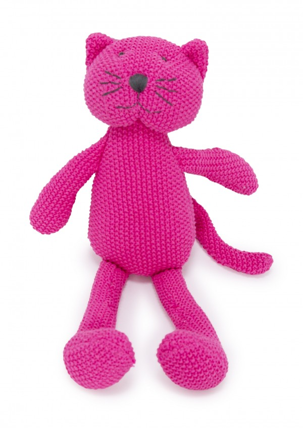 Crochet Animal pink Cat sitting