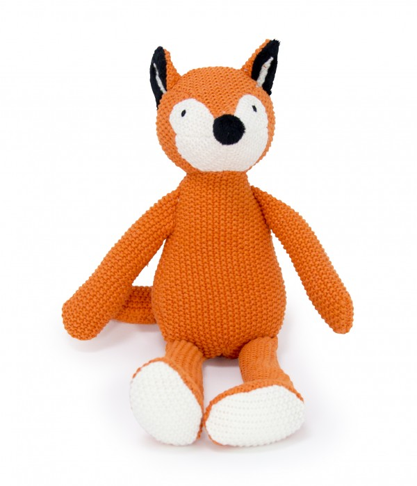Crochet Animal orange Fox sitting