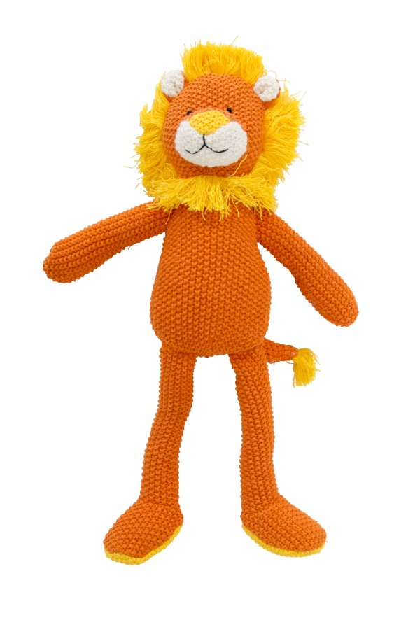 Crochet Animal orange Lion Standing