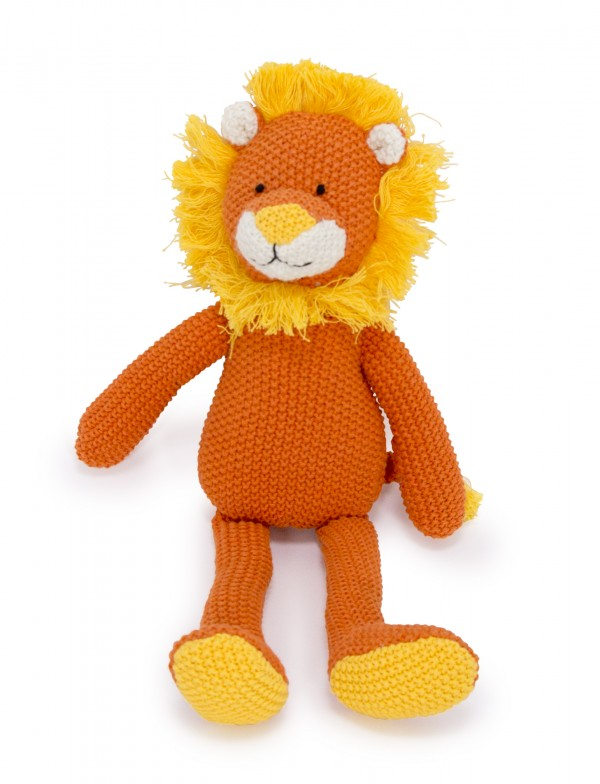 Crochet Animal orange Lion sitting