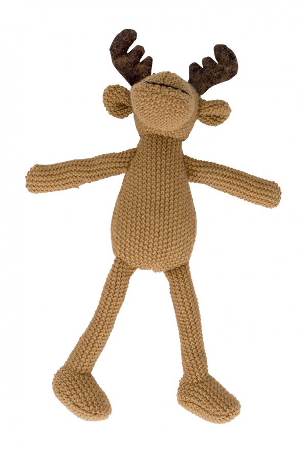 Crochet Animal brown Moose standing