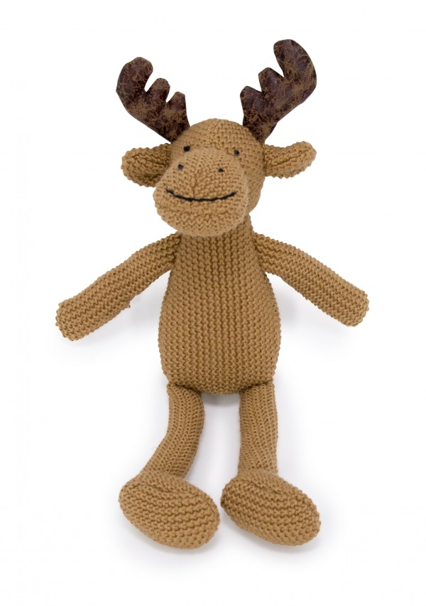 Crochet Animal brown Moose Sitting
