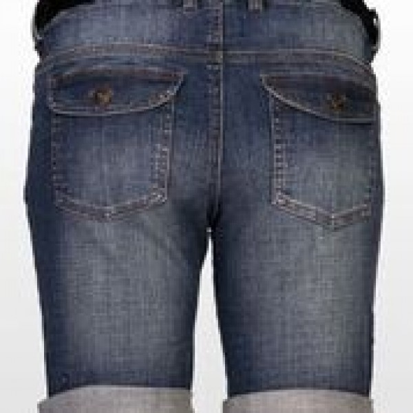Eve of Eden Retro Denim Maternity Shorts - Back