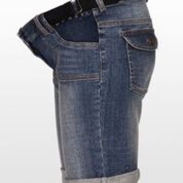 Eve of Eden Retro Denim Maternity Shorts - side