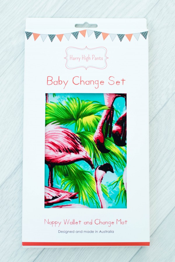 Harry High Pants Baby Change Set - Flamingo Fling Packaging