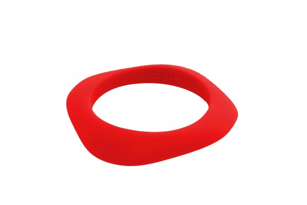 Flat Stackable Bangle - Hot Lips Red
