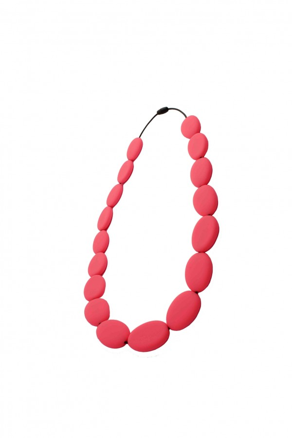 Nibbly Bits Flat Bead Silicon Necklace - Scarlett