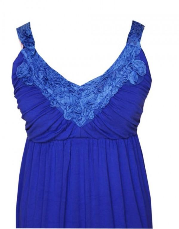Goosebumps Clothing Giselle Maxi Dress - Royal Blue Detail