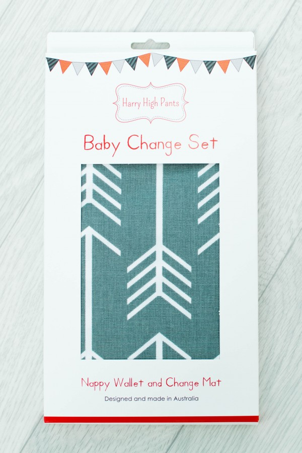 Harry High Pants Baby Change Set - Grey Arrows