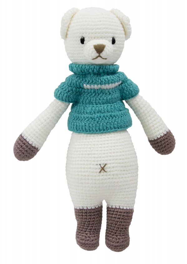Hand Knitted Dream Guardian Bobbie Bear Soft Toy