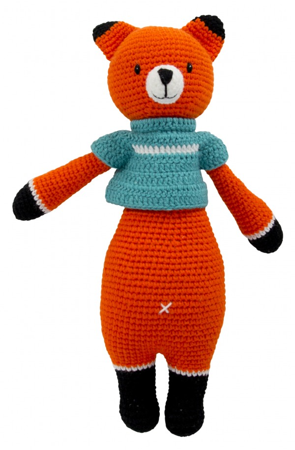 Hand Knitted Dream Guardian Fennis Fox Soft Toy