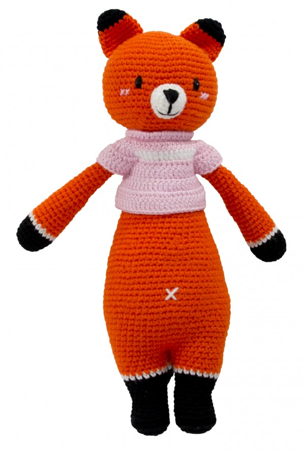 Hand Knitted Dream Guardian Foxxie Fox Soft Toy