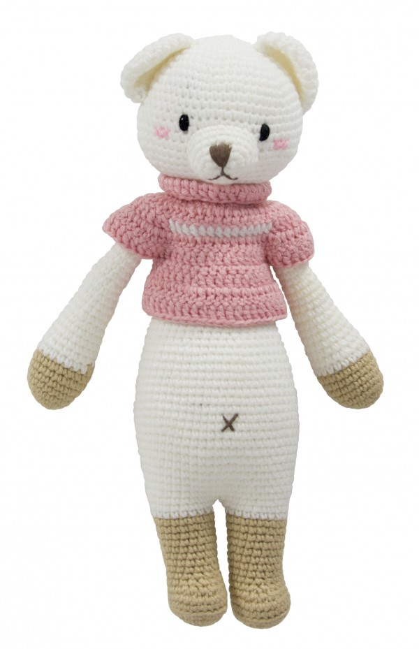Hand Knitted Dream Guardian Lizzie Bear Soft Toy