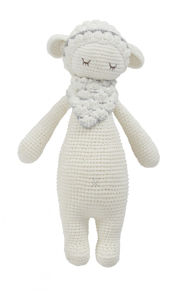 Hand Knitted Dream Guardian Barbra Sheep Soft Toy