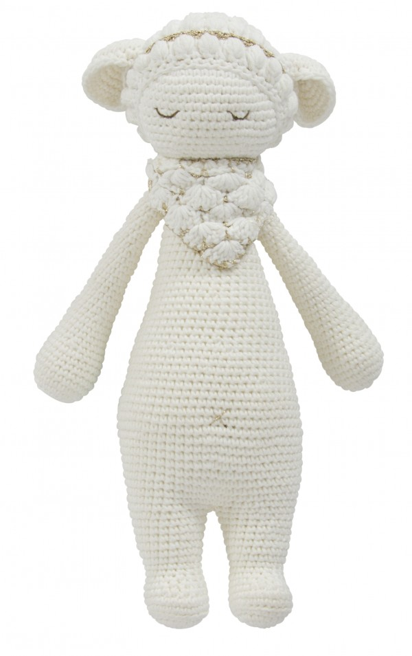 Hand Knitted Dream Guardian Poppy Sheep Soft Toy