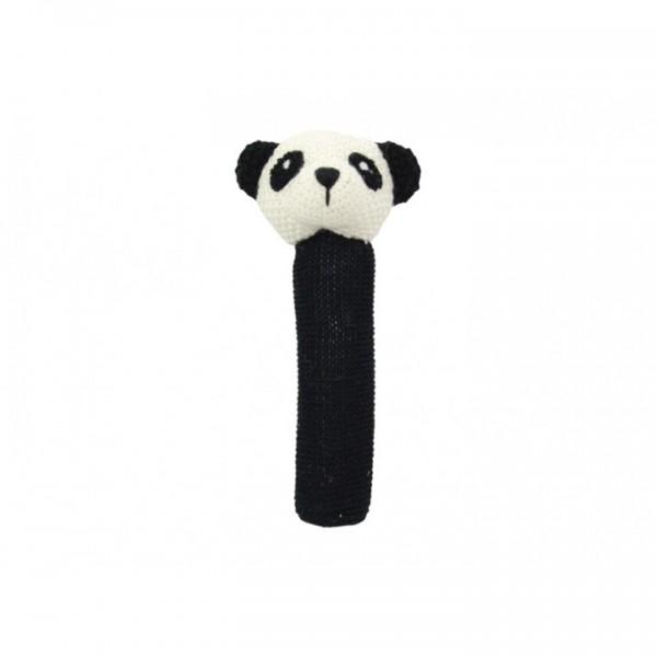 Crochet baby hand rattle Panda